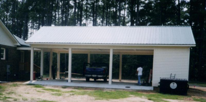 House plans by hope mcgrady carport plans Carport with storage room
