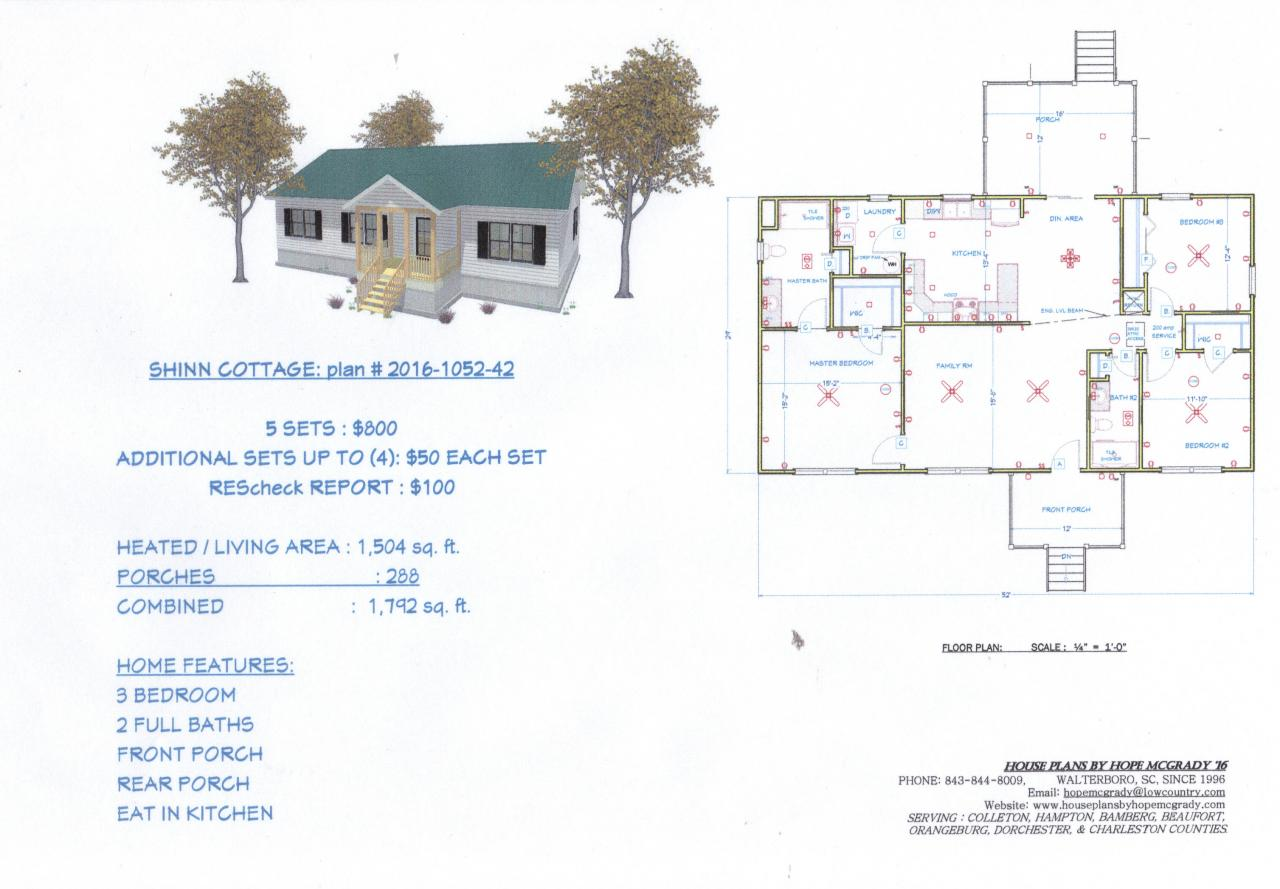 House plans by hope mcgrady house plans for sale for Home plans for sale